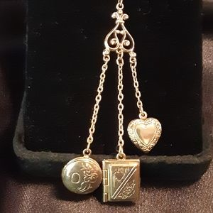 Jewelry - Vintage Double Locket Necklace